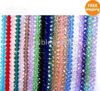 Wholesale 10mm Crystal Rondelle Faceted Beads Mix Colour Free Gift