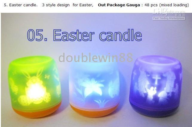 Wholesale Easter Theme LED Candle Decoration Light Voice control Candle Gift