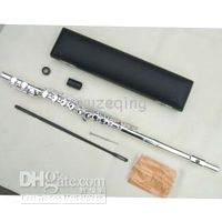 Wholesale new16Closed holes flute c key silver E parts fine sound