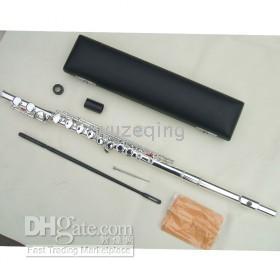 Wholesale new16Closed holes flute c key silver E parts fine sound