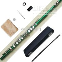 Cheap New green 16 holes flute closed beautiful shape +E key