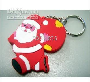 Wholesale Santa Claus GB USB Flash Drives U Disk WH01A