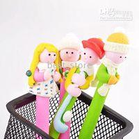 Wholesale Ball point pen Polymer clay creative stationery Cartoon characters per