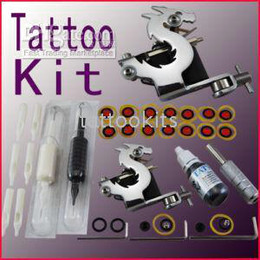 Wholesale 10 Tattoo Kit Machine Gun Grips Needles Ink Tips