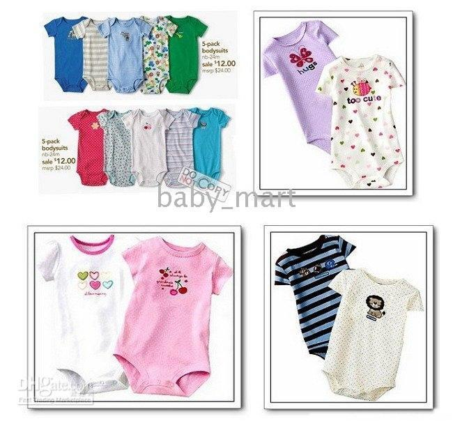 Cheap Baby Short-sleeved rompers Baby jumpers BABY romper bodysuits Baby onesies jumpsuits