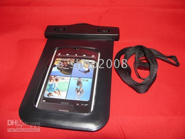 Etanche peau sèche Sac pochette pour iPhone 2G 3G 4G 3S 4S / Touch Noir 50pcs