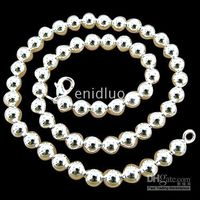 Wholesale NEW STERLING SILVER MM BALL ROUND CHAINS NECKLACES JEWELRY