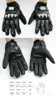 Wholesale PRO BIKER Titanium leather racing gloves Motorcycle GLOVES Motorcycle Apparel