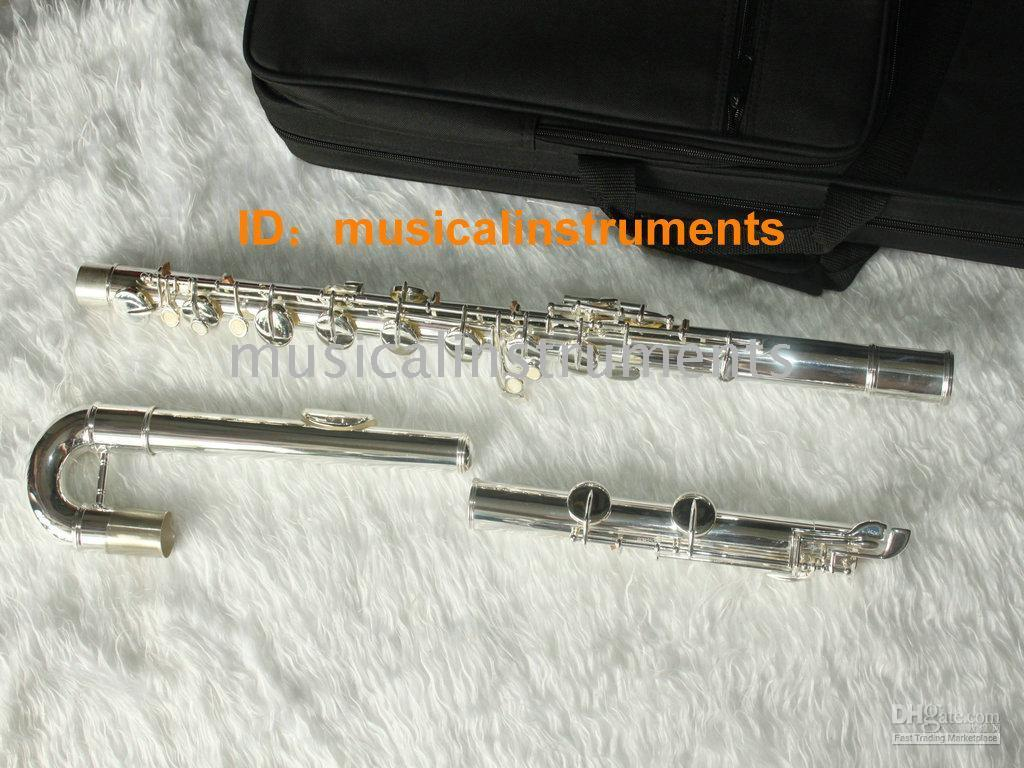 Wholesale NEW Woodwind Silver big Bass Flutes c
