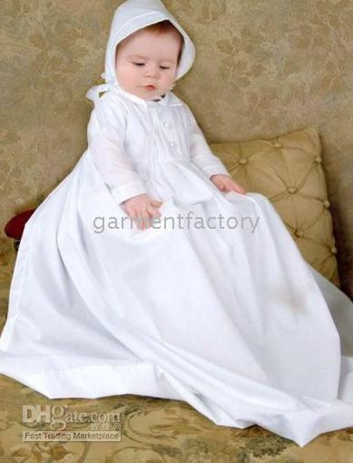 Reference Images baby layette clothing - Hot Sales White Long Sleeve Cotton Christening Gowns Baptism Dress Baby Clothing Skirt Layette