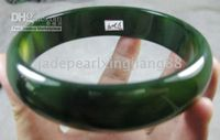Wholesale NATURE BURMA GREEN BLACK JADE bangle bangles JADEITE BRACELET mm