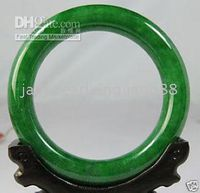 Wholesale 100 Natural Great Burma BURMA APPLE GREEN JADE JADEITE BANGLE BRACELET mm