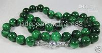 Wholesale Burma12mm Beads China s manual Burma mm Beads Dark Green jade jadeite necklace quot