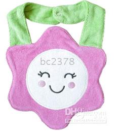 Baby bib 100%cotton towel bibs waterproof function baby feeding mix color 5design nice handfeel 36pcs lot