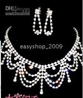 Wholesale Bridal Jewelry sets chain wedding jewelry Wedding Accessories Bridal Necklace crown AA20