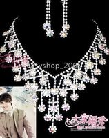 Wholesale Bridal Jewelry sets chain wedding jewelry Wedding Accessories Bridal Necklace crown AA25