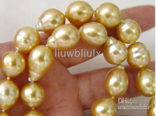 Chains australia diamond - 10 mm quot Australia South Sea golden Pearls Diamond Necklace k