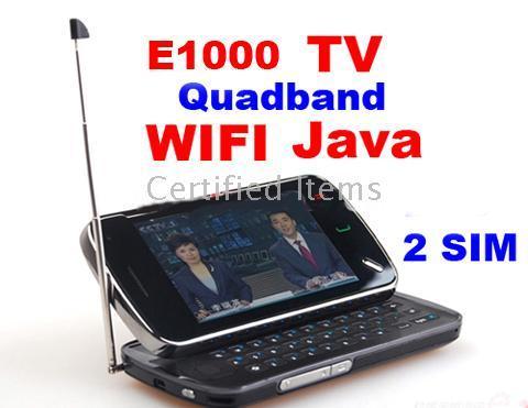 quadband tv phone - E1000 Unlocked Quadband TV N97 Sims WI FI MSN TV Mobile Cell Phone do not support itunes