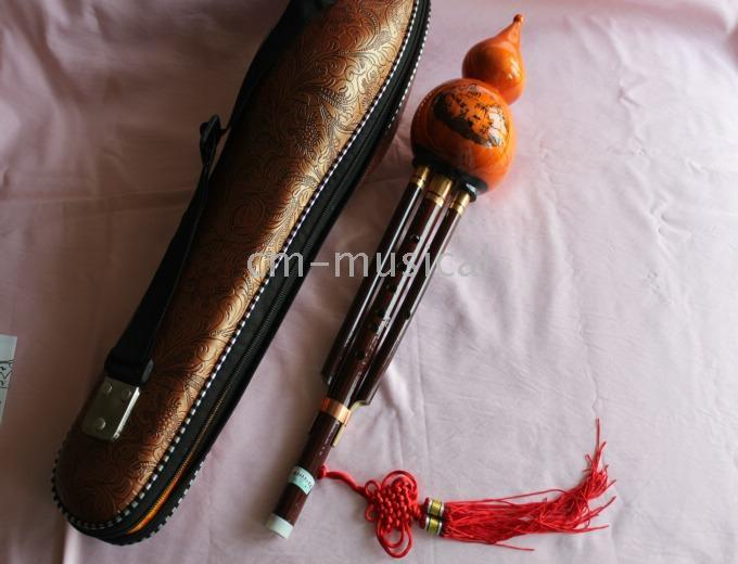 Wholesale Woodwind Hulusi Chinese musical instrument Hulusi With case