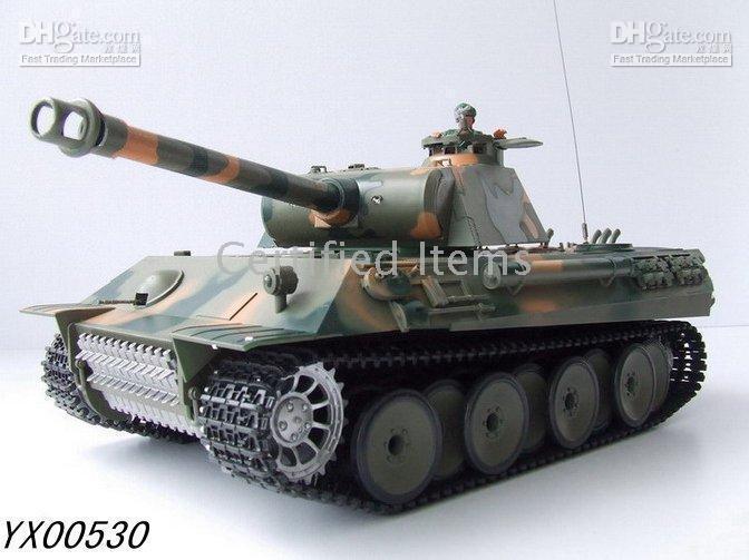 Wholesale 1 scale RC tank Smoking Battle German Panther Battle Tanks radio Remote Control Tank RTR toys