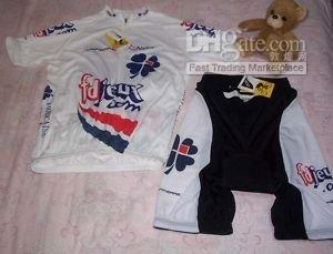 Wholesale NWT 2008 FDJEUX CYCLING JERSEYS AND SHORTS KITS SIZE XL