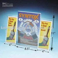 Wholesale p6 Acrylic Brochure Holder acrylic book holder acrylic display Brochure Holder