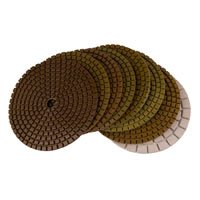 Wholesale 5 Wet Diamond Flexible Polishing Pads for Marble Granite Concrete Black buff