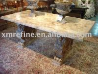 Wholesale Travertine Table garden sets marble mosaic table