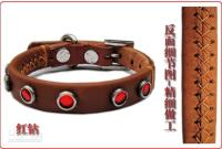 Wholesale Cattle hide pet dog collar angelss