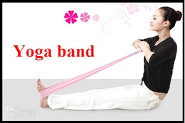 new Pilates Yoga Resistance Exercise Bands Loops Resistance Bands free shipping