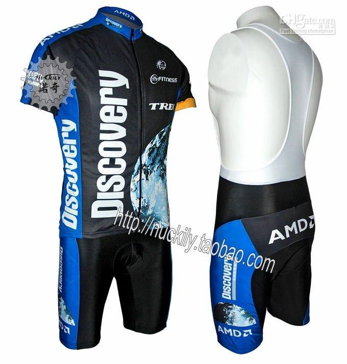 Wholesale Discovery Trek AMD Team Bike Bicycle Cycling Jersey &amp;amp; Bibs Shorts