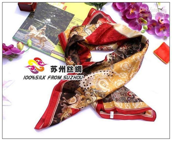 Cheap square silk Best plain silk