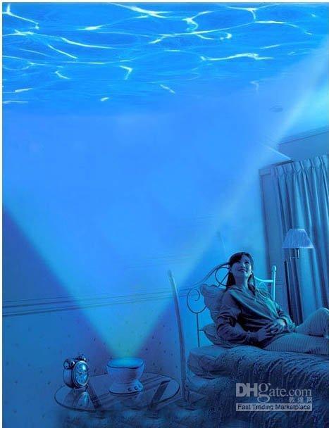 Vista al mar Proyector de Luz con el Sonido de los Juguetes de Iluminación LED/LEd de Luz de la Lámpara del Proyector para Niños de Juguete