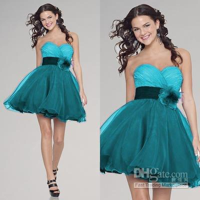 Cheap Short Teal Homecoming Dresses - Free Shipping Short Teal ...