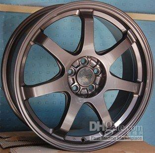 Wholesale 18 Aluminum alloy wheel rim products for modify car Racing car Sport car Gun Gray