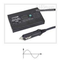 Wholesale 120W PURE SINE WAVE POWER INVERTER DC V AC V V V CAR TO APPLE IPOD LAPTOP