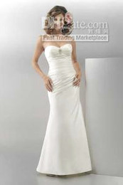 Wholesale Trumpet Sweetheart Ankle Length Taffeta Informal Wedding Dress