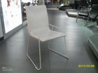Wholesale modern PVC metal dining chair iron frame prices for small quantity