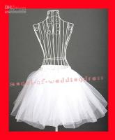 White   Free shipping Popular Fashion Bridal White 50s 60s Petticoat Slip Jupon Crinoline Underskirt Crinoline