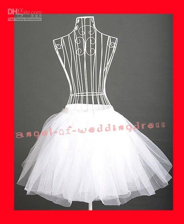 Wholesale Popular Fashion Bridal White s s Petticoat Slip Jupon Crinoline Underskirt Crinoline