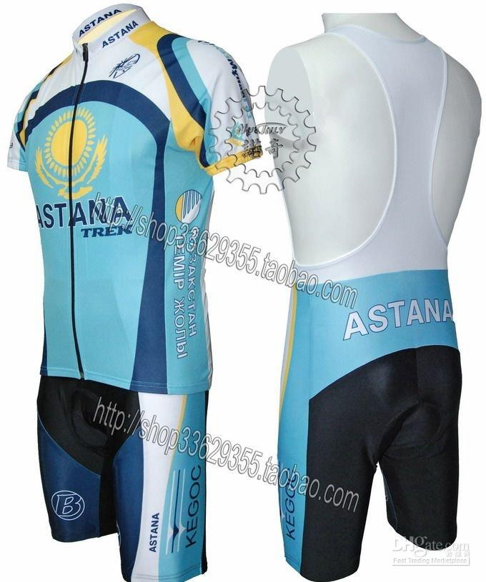 Wholesale Astana Trek Team Bike Bicycle Cycling Jersey &amp;amp; Bibs Shorts