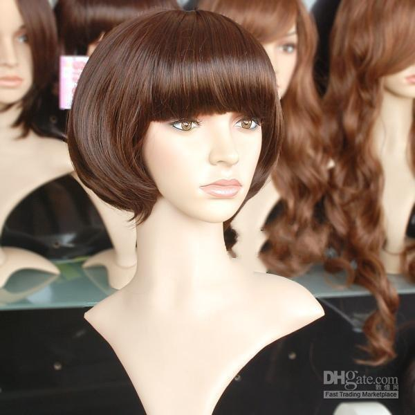Wholesale Fashion Slightly curled short hair wigs Makes you beautiful fashion MIX order