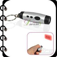 Cheap Free Shipping!Digital Mini Projection LED Clock Time Key Ring Chain #DQ0088