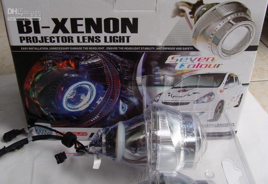 Cheap Via EMS! G3+ 7 Color LED+Angle Eye, HID Bi-xenon Projector Lens Light