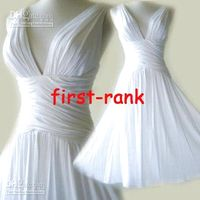White   WHITE Ruched Grecian Cross Back V-neck Short Cocktail Dress Chiffon firist rank wedding