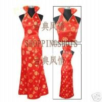 Wholesale chinese gown dress qipao cheongsam wedding red laogudai