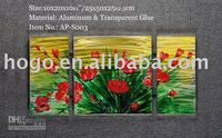 Cheap Free Shipping!!! Contemporary Water Flower Metal Art Wall Decor Oil Paintings 5092