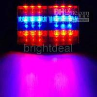 Wholesale 18 LED Flashing Strobe Dash Police Fire Man Light Red blue