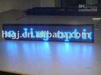 Wholesale single blue semi outdoor led moving message display