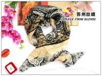 Cheap Wholesale -Large square silk scarf shawl Crepe Satin Plain silk scarf shawls df45